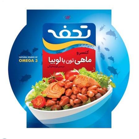 کنسرو ماهی تون لوبیا چیتی تحفه/۲۳۰ گرم