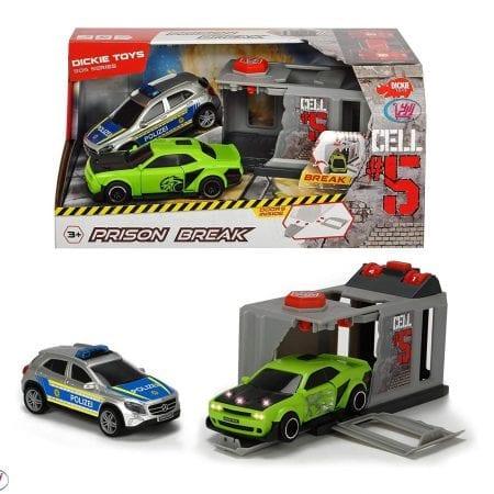 ماشین ست فرار از پایگاه همراه با ماشین پلیس برندDickie Toys