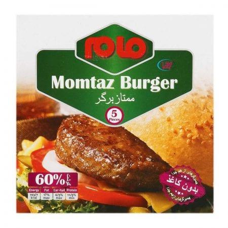 همبرگر ممتاز ۶۰ درصد گوشت مام / ۵ عددی