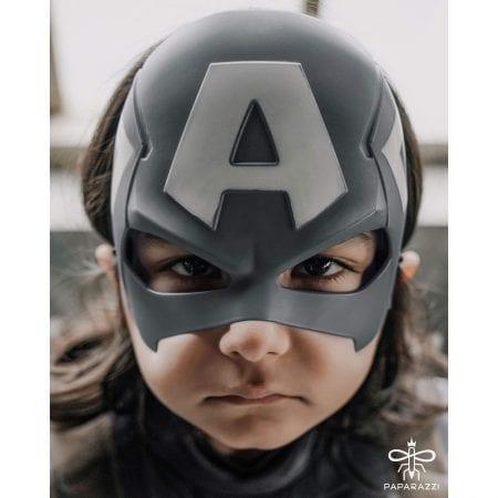 لباس کاپیتان آمریکا با ماسک و کمربند / سایز S